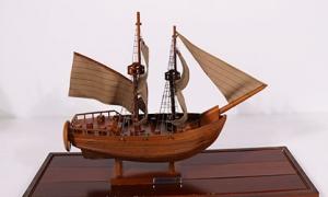 木质复古帆船模型 工艺品质手工...