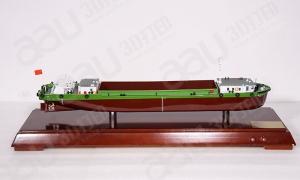 3D打印制作模型 绿色驳船 创...