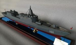 055导弹驱逐舰模型军舰模型成...