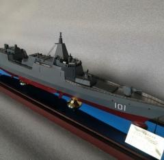 055导弹驱逐舰模型军舰模型成品|合金军事战舰