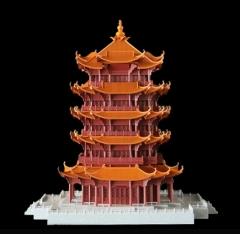 精加工黄鹤楼3D打印模型
