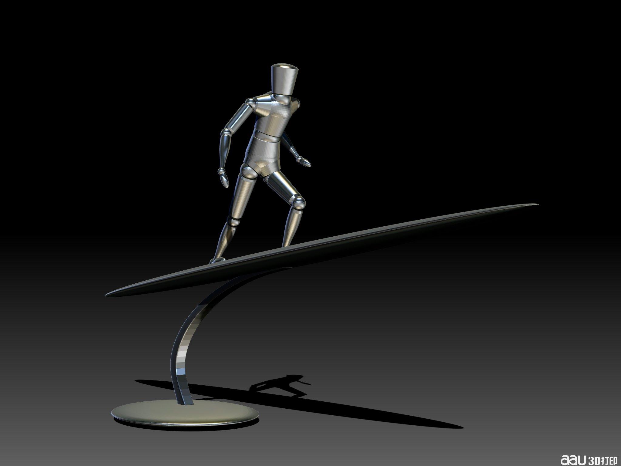 乘风破浪-3d人物模型