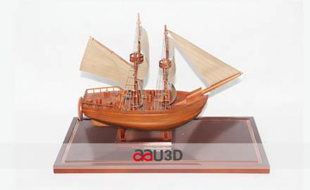 三维模型帆船结构素材